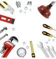 construction repair tools icon set vector image