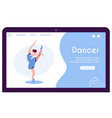 contemporary and classical dancing set dancer vector image