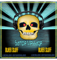 Dj skull poster vector | Price: 1 Credit (USD $1)