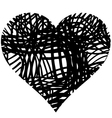 doodle heart shaped 4 vector image vector image