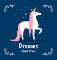 dreams come true banner template fairytale magic vector image
