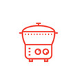 electric cooker icon steamer multi cooker vector image vector image