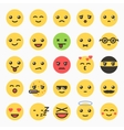 Emoticons set yellow website emoticons vector image vector image