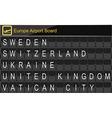 Europe airport digital boarding vector image vector image