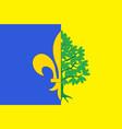 flag of mantes-la-jolie in yvelines in vector image