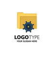 folder setting gear computing business logo vector image vector image
