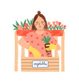 gardening horticulture flat vector image vector image