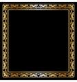 Goldten frame vector image