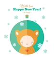 Greeting card with fun child for New Year in flat vector image vector image