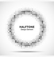 halftone circle frame abstract random dots vector image
