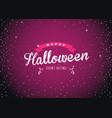 happy halloween on dark purple background with vector image
