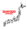 icon for japanese cuisine sushi restaurant vector image vector image