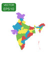 india map icon business cartography concept india vector image vector image