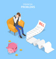 isometric flat concept financial vector image vector image