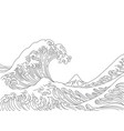 japan great wave vector image vector image