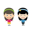 Japanese and indian cartoon girls in vector image
