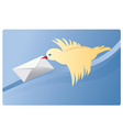 mail bird vector image