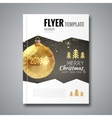 Merry Christmas Happy New Year trendy Brochure vector image vector image