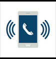 mobile phone call icon vector image vector image