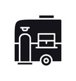 mobile trailer icon camping caravan trailer home vector image