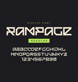 modern regular display font named rampage vector image vector image