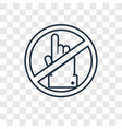 no alcohol concept linear icon isolated on vector image