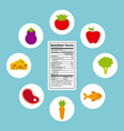 nutritional food design vector image
