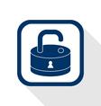 open lock flat icon vector image vector image