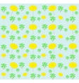 Palm trees umbrellas seamless pattern vector image vector image