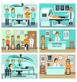 People patients in hospital medical staff in vector image