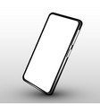 realistic smartphone mockup cellphone frame with vector image vector image