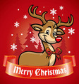 rudolf the deer vector image vector image
