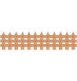 rustic wooden fence vector image