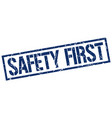 safety first stamp vector image vector image