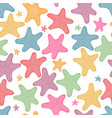 seamless pattern background with starfish vector image