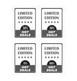 set of flat design sale stickers for online vector image vector image