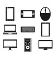 set of popular gadgets icons vector image