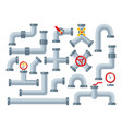set pipes system and components vector image vector image