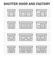 Shutter Door icon vector image
