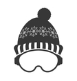 ski mask and hat icon vector image