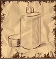 Spray can icon isolated on vintage background vector image