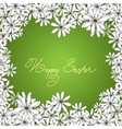 Spring Happy Easter background with chamomiles vector image vector image