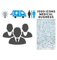 Staff Icon with 1000 Medical Business Symbols vector image vector image