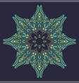 stylized mandala design vector image vector image