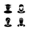 users avatar people simple related icons vector image
