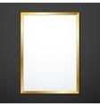 vertical gold texture frame mockup vector image vector image
