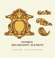 Vintage architectural decoration elements for vector image