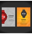 Watches flayer design vector image vector image