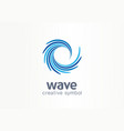 water wave aqua whirlpool creative symbol vector image