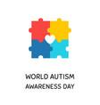 world autism awareness month banner design element vector image
